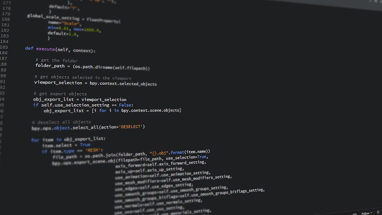 Code Programming Python  - JohnsonMartin / Pixabay