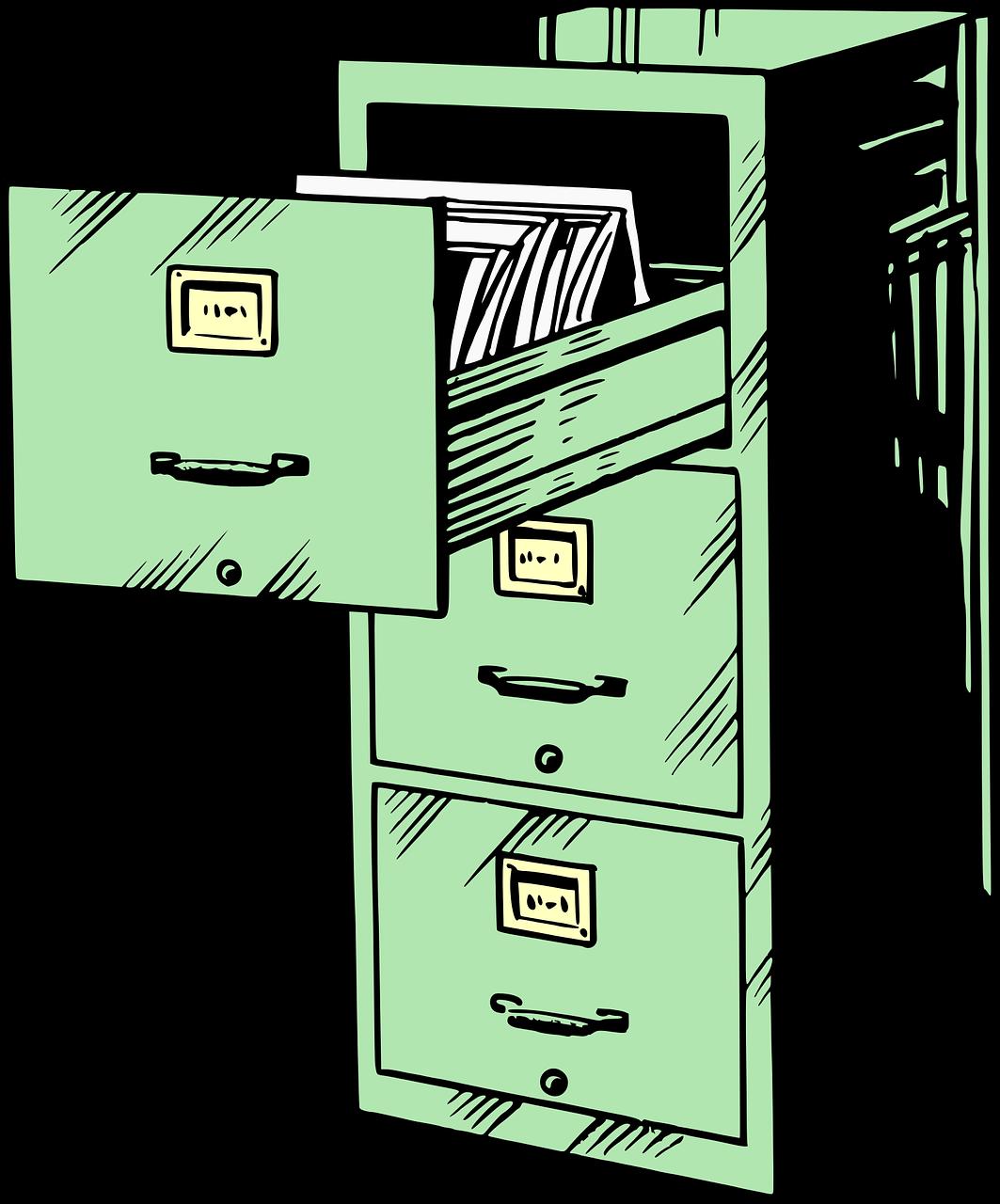 Cabinet Filing Filing Cabinet  - OpenClipart-Vectors / Pixabay